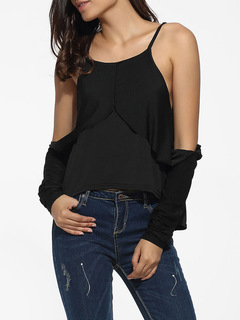 Sexy blouse Camisole strapless Unique top-down turn-over shape black s