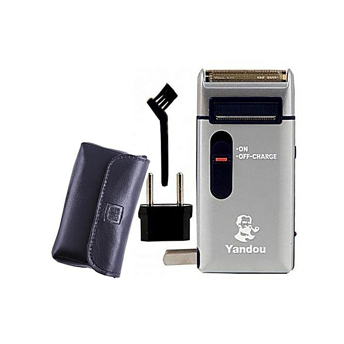 Yandou Rechargable Shaver/Smoother/Hair Trimmer/clipper With Brush And Wallet grey 10