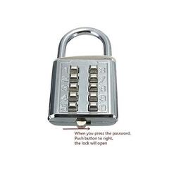 STELAR Password Padlock silver large
