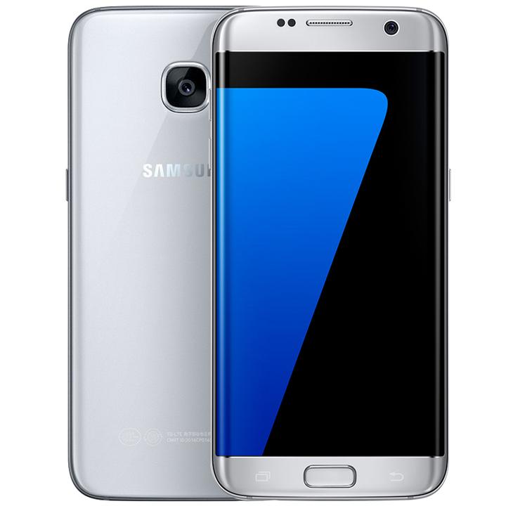 Refurbished:Samsung Galaxy S7 Edge  5.5'' 4+32GB/64/128GB Single SIM 13MP 4G Smart phone silver  4+128g