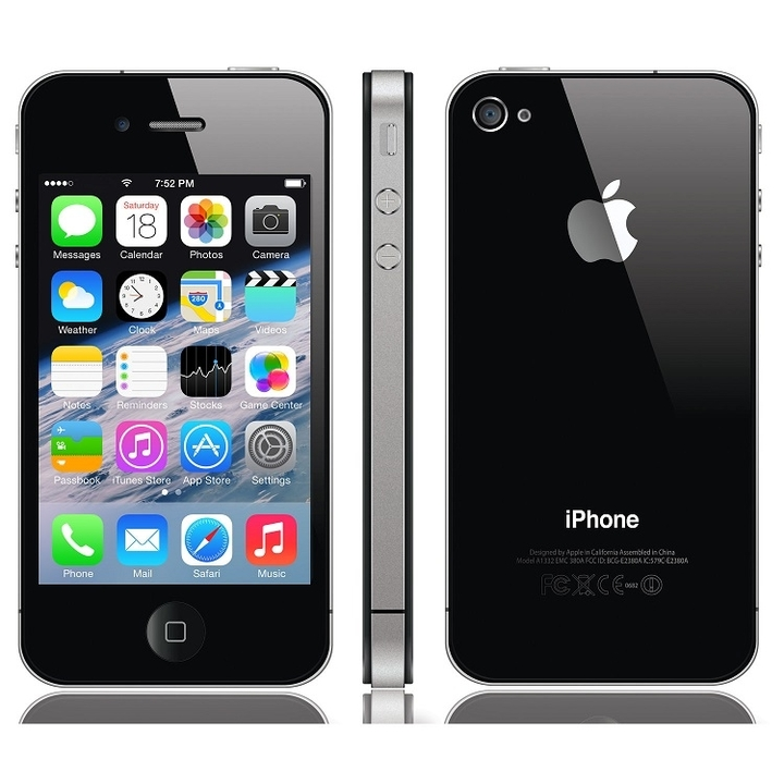Certified Refurbished:iphone 4 16GB+512MB 3.5 inch unlocked iphone4 5MP 8g mobile phone smartphone black 16g