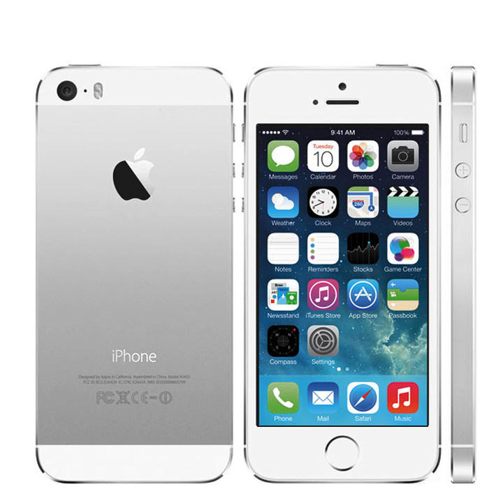 Certified Refurbished:apple iphone 5s 16G32G/64G +1GB mobile phone iphone5s 8MP without fingerprint silver 16g