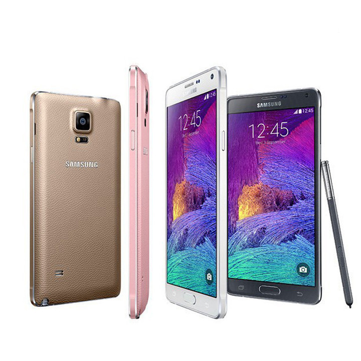 Refurbished Samsung Galaxy Note 4 4G LTE Mobile Phones 5.7 inch 16MP 16GB ROM Smartphones white
