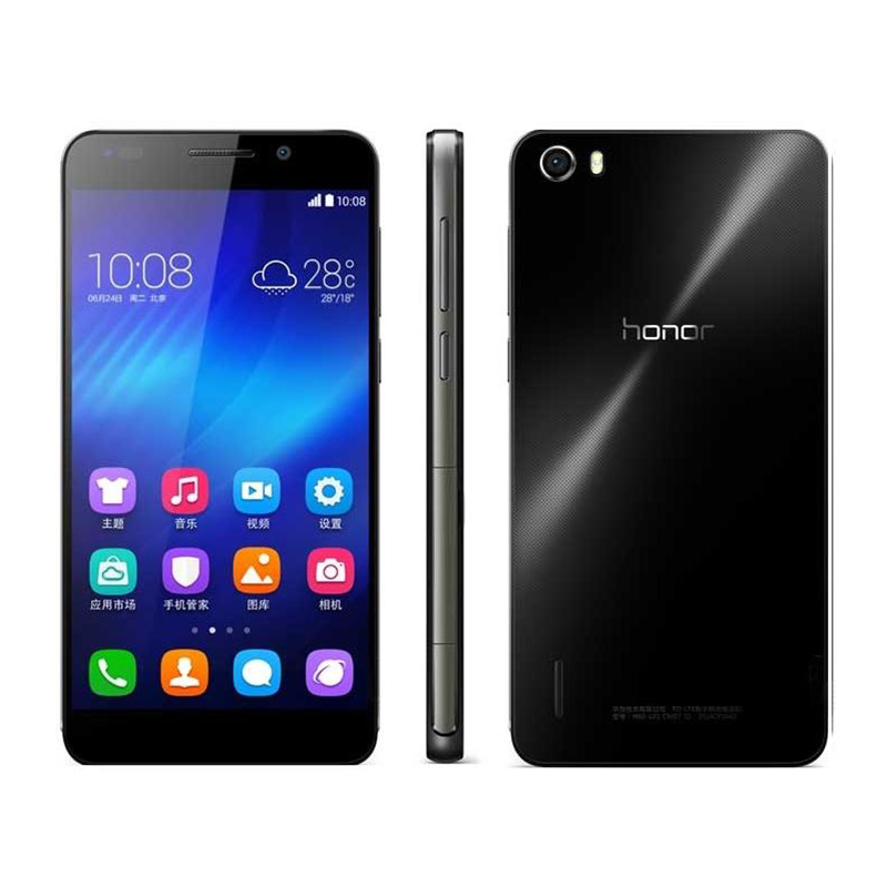 RefurbishedGlobal Firmware Huawei honor 6 3GB +16GB/32GB  -5''screen-13+5MP-Smartphone black 3+16g