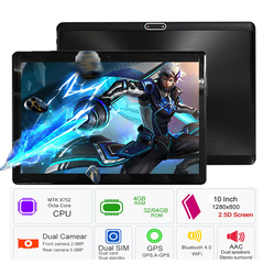2019 New Google Play 10 inch tablet Octa Core 4GB RAM 64GB ROM 1280*800 IPS 2.5D  Tablets black