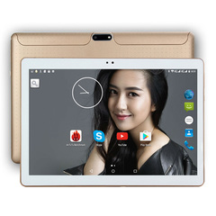 2019New 10 inch Original Design 3G Phone Call Quad Core 4G+64G Android Tablet  WiFi Bluetooth GPS I gold