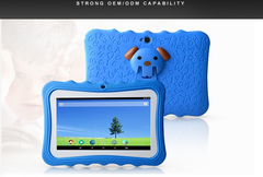 Kids Learning  7inch  Tablet PC 1G+8GB A7 Quad Core   Dual Camera Language Training blue
