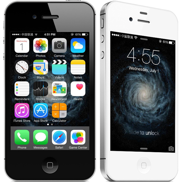 Certified Refurbished:iPhone 4S 3.5'',8GB/16GB/32GB,Unlocked Smart phone iPhone4S random color 32g