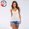 ORFILA summer new crocheted hollow knit camisole sexy U-neck fashion wild sleeveless women's Tops white m