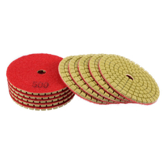 Sunlly 5 Pads 3 inch 800 to 3000Grit Wet Diamond Polishing Pads and Loop Backing Holder Disc