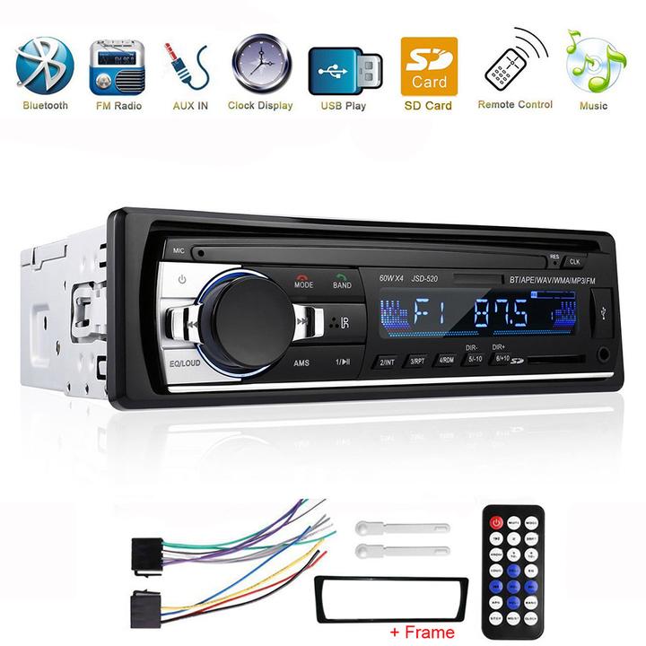 SUNLLY Car Stereo with Bluetooth Single din in Dash Car Radio FM/MP3 Car Audio Player, JSD-520