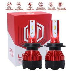 Car 2 LED Headlight Bulb, 50W 6500K 8000LM Extremely Brigh CSP LED Headlamp Fog Light red 9005