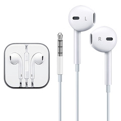 Apple iPhone android Headsets With Built-in Microphone 3.5mm In-Ear Wired Earphone For Smartphones white