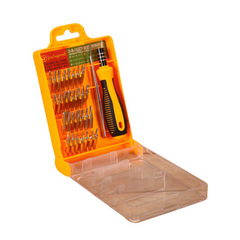 Multifunction screwdriver combination Suit  32 in 1 notebook Mobile phone service tool yellow one size