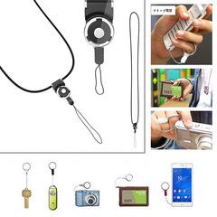 Keychain Cell Mobile Phone Camera Neck Lanyard Strap key cord neck Ring Holder neck braces lanyard random color one size