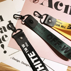 English Alphabet  Mobile Phone Shell Pattern Lanyard Shatter-resistant Long Wrist Strap Rope random color one size