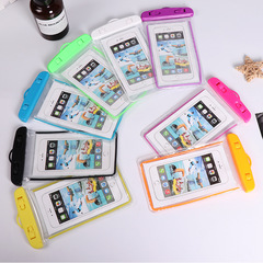 Universal Waterproof Mobile Phone Clear PVC Sealed Underwater  Smart Phone Swimming Pouch 20*10.5cm random color 20cm*10.5cm