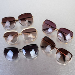 Ladies uv protection D frame luxury designer shadow sunglasses children's sunglasses polychromatic White 14.3*6.4*13
