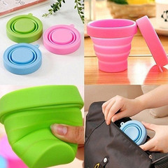 Portable Home Travel Camping Silicone Telescopic Drinking Collapsible Folding Cup 1 1