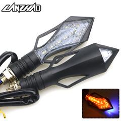Universal LED Motorcycle Turn Signal Lamps DRL Lights for Bajaj TVS HONDA SUZUKI KTM