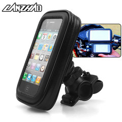Outdoor Sport Bicycle Motorcycle Waterproof Phone Holder Zipper Pocket Universal for Honda KTM TVS