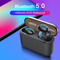 Q32 Bluetooth 5.0 Earphones TWS Wireless Headphones IPX5 with 1500 mAh Power bank For iPhone HUAWEI black