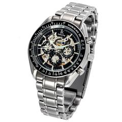 2019 New IK colouring  men's automatic mechanical watch fashion trend hollow waterproof black 24*1.4*3