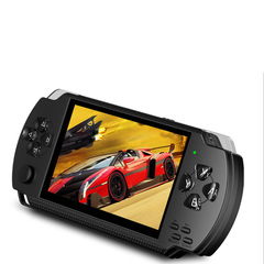 Game Console 8G  Multifunction Handheld Player Portable Entertainment Pocket Size Rechargeable black