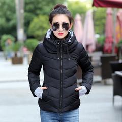 2019 Winter Jacket women Plus Size  Parkas Thicken Outerwear solid  Female Slim Cotton padded black XL