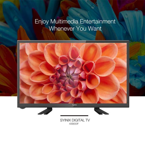 "SYINIX 40S630F - 40"" Digital TV LED HD Television Black 40 inch"