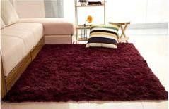 Warm Soft Cosy Fluffy Carpet-5*7 Maroon 7*10