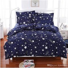 4 pcs Duvet set (1 Duvet, 2 Pillow cases, 1 Bed-sheet) multicolor 6*6