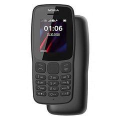 Nokia 106 - DUAL SIM, FM RADIO, TORCHLIGHT, 800MAH BATTERY, 1.8 INCH DISPLAY - DARK GREY Dark Grey