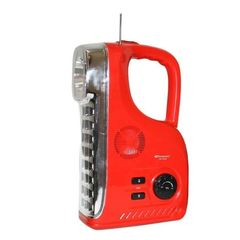 Kamisafe Rechargeable LED Radio Lamp red 17 15