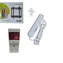 Wall Mounting Bracket for 14 - 42 TV  plus free Tv guard and free heavy duty 4way extension.