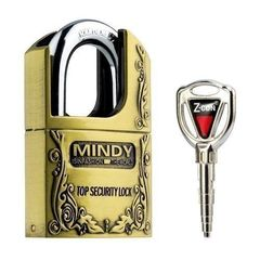 Mindy Padlock with 3 Keys Gold 50mm
