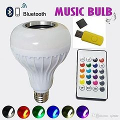 LED Music Bulb With Bluetooth,Music Player With FREE USB disk Multicolour Same Size 6