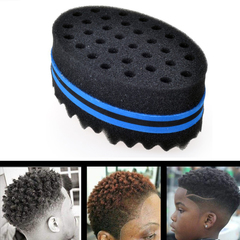 BEWAVE Big Holes Barber Hair Brush Sponge Dreads Locking Twist Afro Curl Coil Wave Hair Care Tool Blue 5.59 inch long/3.54 inch wide/2.12 inch high