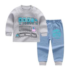 K&A Boys Girls Clothing Set Baby Outfit Top+Pants Sport Toddler Tracksuit Suit BL1 60(90cm)