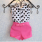 little Baby Girl Summer Clothes Suit Top And Shorts Fashion Clothing Toddler Outfit Kids Set pink 100/18-24m