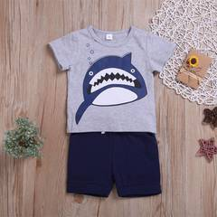Infant Baby Boy Clothing Set T-shirt +Short Plants 2ps Newborn Baby Casual Clothes Kids Suit as picture 80/12-18m