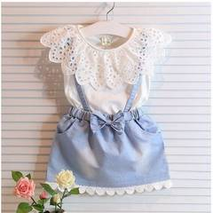 Kids Baby Girls Clothing Suit Princess Lace Dress Toddler Baby Princess Dresses Casual Girl Clothes as picture 7/2-3y