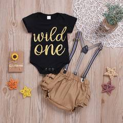 Infant Baby Boys Girls Clothes Set Romper+ Short Pants Girl Summer 2ps Toddler Baby Kids Suit as picture 80/3-6m