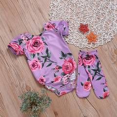 Newborn Baby Girl Clothing Set Kids Girls Romper Toddler Jumpsuit Outfit Infant Clothes as picture 80/59-68cm