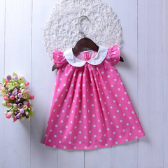 Kids Baby Girls Clothing Sleeveless Dot Princess Birthday Party Wedding Dresses Clothes Outfits as picture 110/2-3t