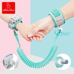 Happywalk  Anti Lost Wrist Link With Key Lock Toddler Leash Safety Harness Baby Strap Rope Children green 2 meters