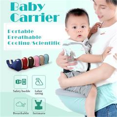 Baby Carrier Waist Stool Walker Belt Backpack Hipseat Sling Front Holder Toddler blue as picture