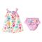 Newborn Baby Girls Clothes Set sleeveless cotton print girls vest skirt striped pp pants 0-24M 2019 001 90
