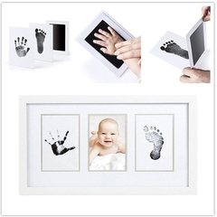 Baby Handprint Footprint Non-Toxic Newborn Imprint Inkpad Infant Souvenirs Casting Clay Toys Gift black 1
