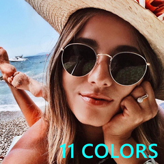 High Quality UV400 Retro Sunglasses Womens Classical Punk Car Driving Oculos Famale c1 one size